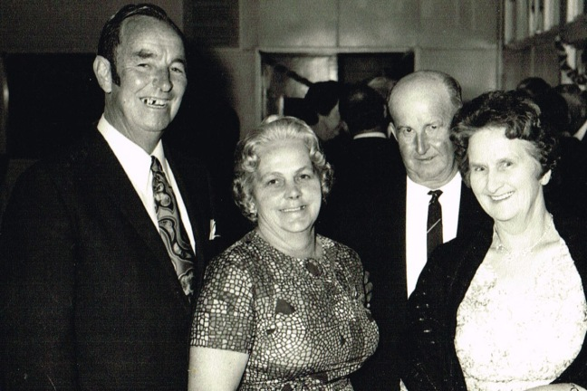 Members Jack and Mollie Smith and Ken and Glad Harris