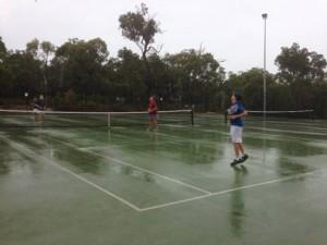 Wet tennis